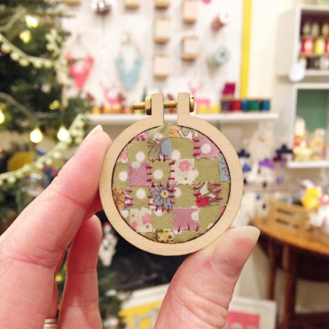 The Makery Open Day - Embroidery Hoop Pendant